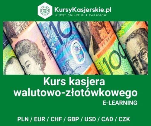 Kasjer walutowo-złotówkowy 7 walut (e-learning)