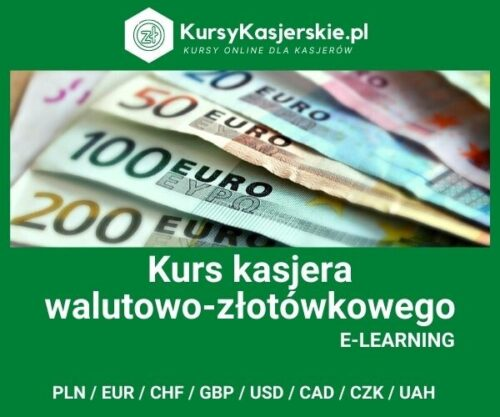 Kasjer walutowo-złotówkowy  8 walut (e-learning)